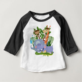 Cute Safari Animals Baby Raglan T-shirt