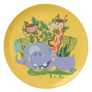 Cute Safari Animals Plate