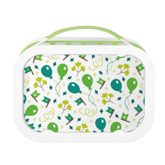 Cute Saint Patrick's Day Balloons and Flags Lunch Box
