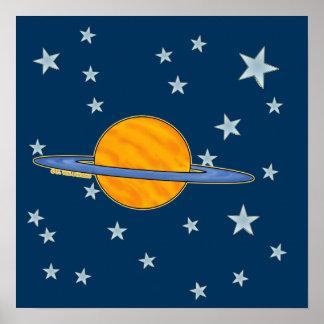 Cute Saturn Poster