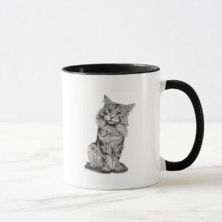 Cute Scruffy Cat Art Mug