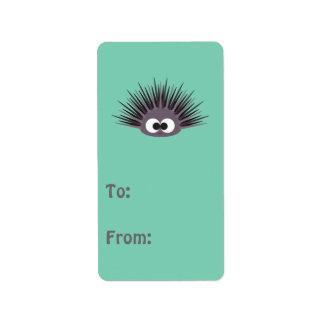 Cute sea Urchin Address Label