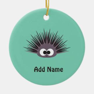 Cute sea Urchin Round Ceramic Decoration