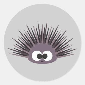 Cute sea Urchin Round Sticker