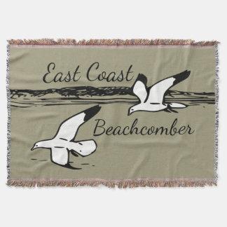 Cute Seagull Beach East Coast Beachcomber throw