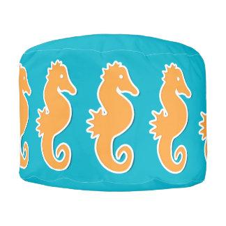 Cute Seahorse Pattern Pouf