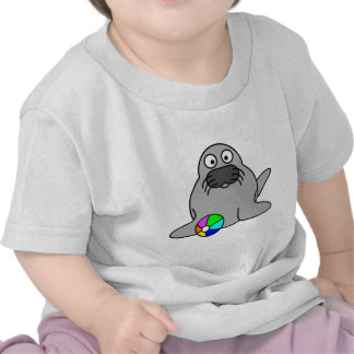 Cute seal animation cartoon illustration tee shirt