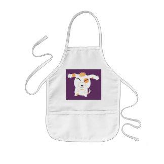 cute shaggy dog kids' apron