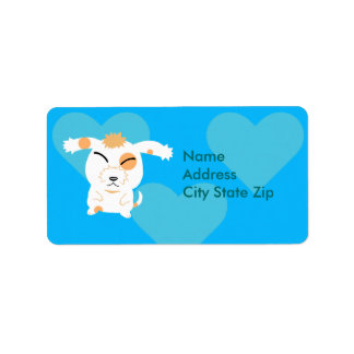 Cute shaggy dog label address label