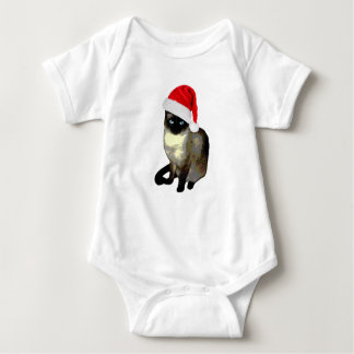 Cute Siamese cat ugly christmas kitty Baby Bodysuit