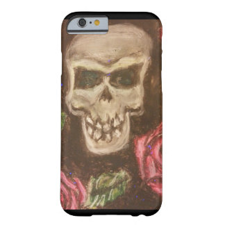 Cute skull and roses barely there iPhone 6 case