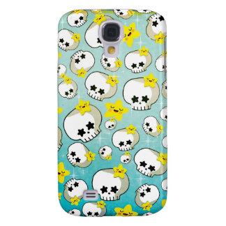 Cute Skulls And Stars Pattern Galaxy S4 Case