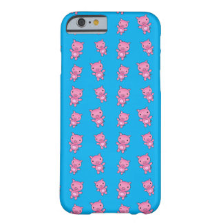 Cute sky blue pig pattern barely there iPhone 6 case