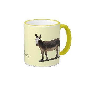 Cute Small Burro - Donkey Horse Animal Rescue Ringer Mug