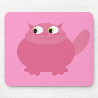 Cute Smiling Cartoon Cat Pink Charity Mousepads