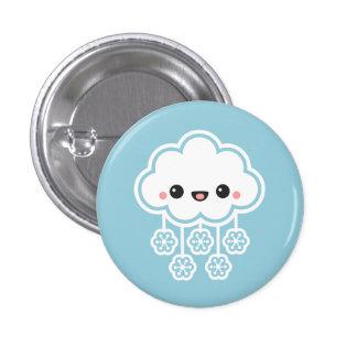 Cute Snow Cloud 3 Cm Round Badge