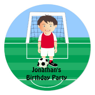 Cute Soccer Player invitations