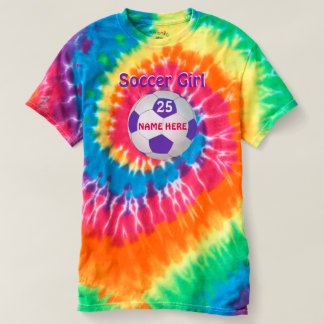Cute Soccer Shirts, Personalized Tie Dye T Shirts