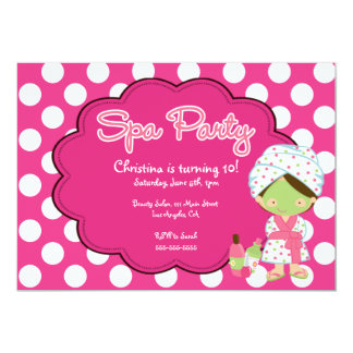 Cute Spa Day Birthday Party Invitation