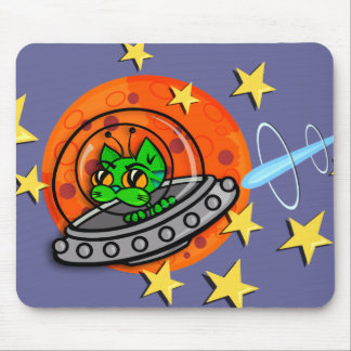 CUTE SPACE KITTY CAT MOUSE PAD