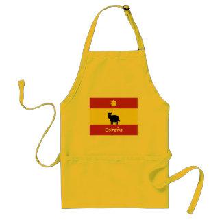 Cute Spanish Bull, Sun & Flag Standard Apron