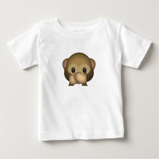 Cute Speak No Evil Monkey Emoji Baby T-Shirt