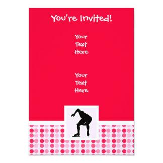 "Cute Speed Skater 5"" X 7"" Invitation Card"
