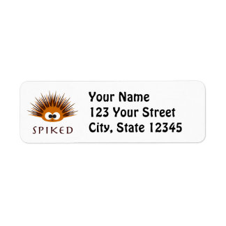 Cute Spiked Orange Sea Urchin Return Address Label