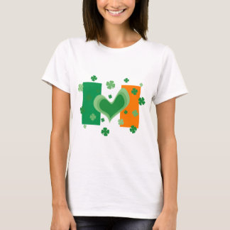 Cute St Patricks Day shirt with Irish flag