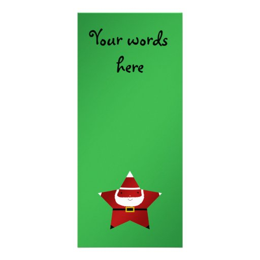 Cute star santa claus custom rack cards