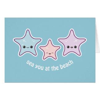 Cute Starfish Card