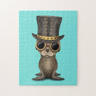 Cute Steampunk Baby Sea Lion Jigsaw Puzzle
