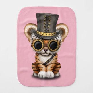 Cute Steampunk Baby Tiger Cub Burp Cloths