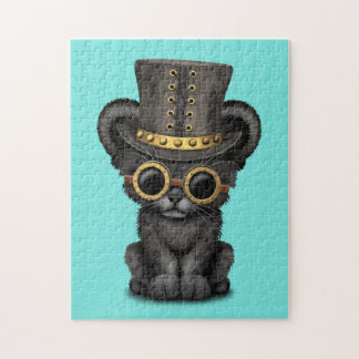 Cute Steampunk Black Panther Cub Puzzle