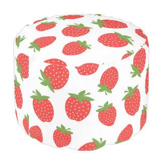Cute Strawberry Pattern Pouf