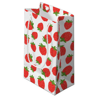 Cute Strawberry Pattern Small Gift Bag
