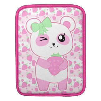 Cute Strawberry pink Kawaii Panda bear Sleeve For MacBook Air