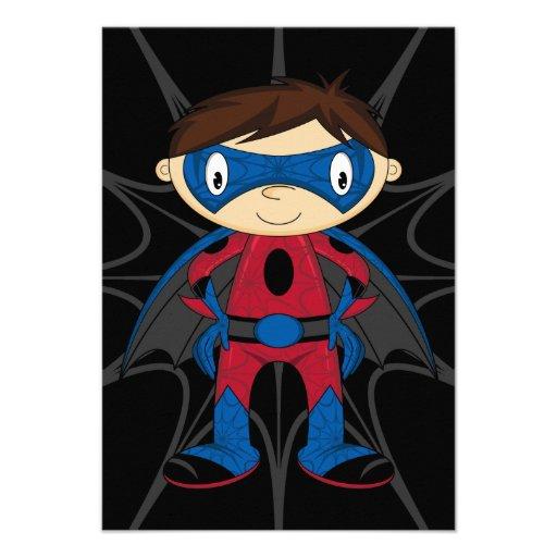 Cute Superhero Boy Announcement