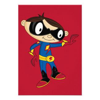 Cute Superhero Boy Custom Announcements