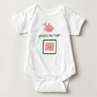 Cute Sushi Baby Gift, Picture me Rollin' Baby Bodysuit