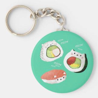 Cute Sushi Cat Key Ring