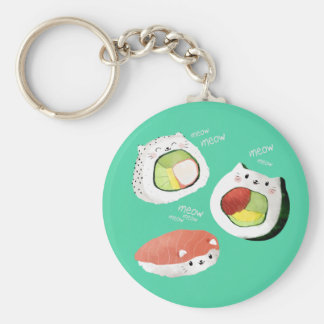 Cute Sushi Cat Keychain