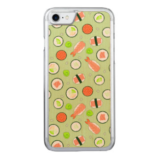 Cute Sushi Pattern Green Carved iPhone 8/7 Case