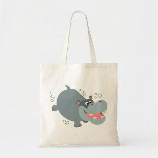 Cute Swimming Cartoon Hippo Bag