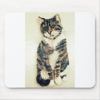 Cute Tabby Cat Mouse Pad