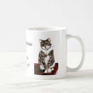 Cute Tabby Cats are welcome Basic White Mug