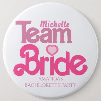 Cute team bride 6 cm round badge