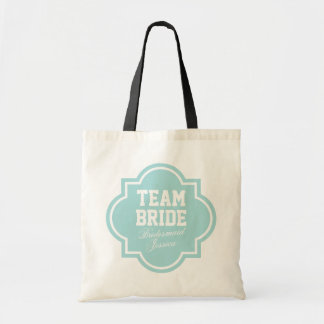 Cute Team Bride tote bags for wedding party