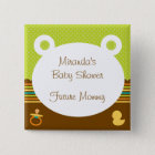Cute Teddy Bear Baby Shower Button