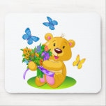 Cute teddy bear mousepad